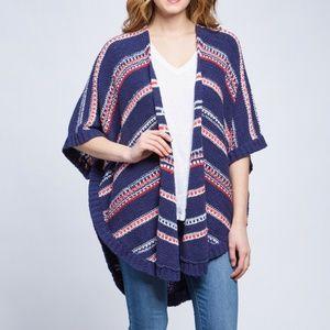 NEW NYDJ Republique Stripe Cocoon Cardigan SM/MED